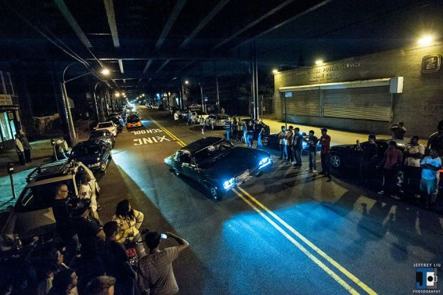 A car meeting last November in front of the United States Postal Office on Liberty Avenue in Ozone Park, Queens. (Photo Courtesy of Jeffrey Liu)