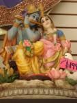 Hindu God Krishna and Goddess Radha for sale.