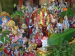 Murtis or Statues of Hindu deities outside a storefront.